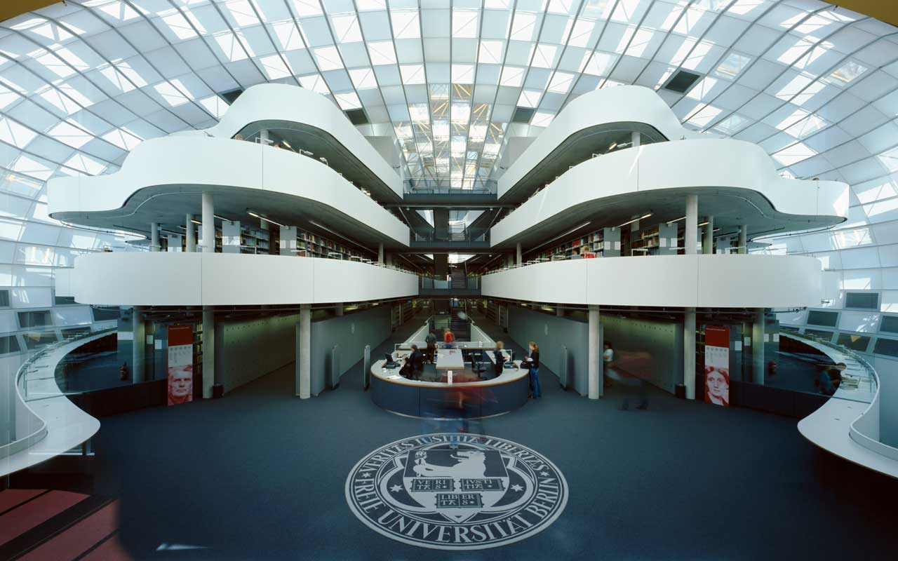 Image result for free university library berlin